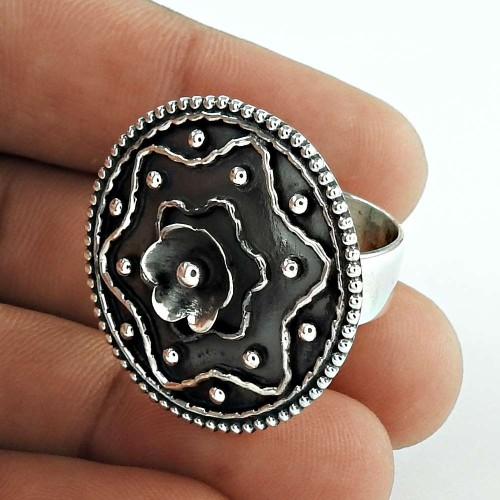 Big Love's Victory Flower Design 925 Silver Ring Exporter