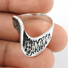 Sterling Silver Fashion Jewellery Oxidised Silver Ring Ethnic Ring