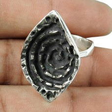 Amusable Oxidised Sterling Silver Designer Ring
