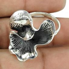 Oxidised Sterling Silver Party Wear Handmade Ring Jewellery