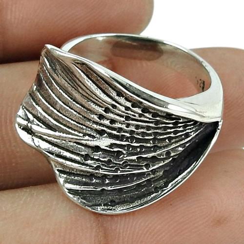 Oxidised 925 Sterling Silver Trendy Handmade Ring
