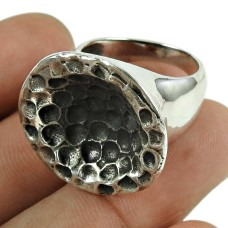 Oxidised 925 Sterling Silver Pretty Handmade Ring