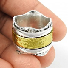 Fashion Gold Plated 925 Sterling Silver Ring Handmade Fashion Jewellery