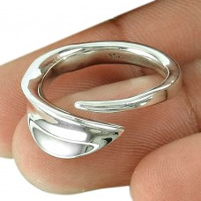 Rattling 925 Sterling Silver Ring Handy Traditional Silver Jewellery