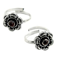 Passion!! Garnet 925 Sterling Silver Toe Rings