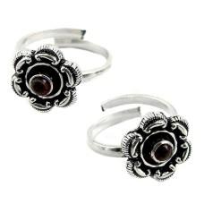 Passion!! Garnet 925 Sterling Silver Toe Rings