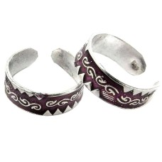 Lilac Kiss !! 925 Sterling Silver Toe Rings