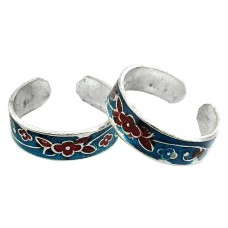 Big Relief Stone ! 925 Sterling Silver Toe Rings