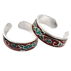Blooming Garden ! 925 Sterling Silver Toe Rings