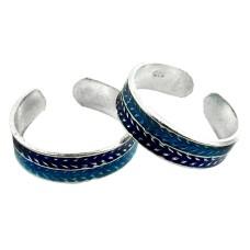 Caribbean Sea ! 925 Sterling Silver Toe Rings