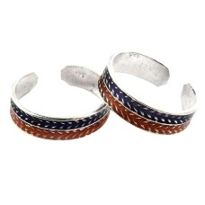Circle Of Love ! 925 Sterling Silver Toe Rings