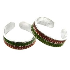 Classy Natural ! 925 Sterling Silver Toe Rings