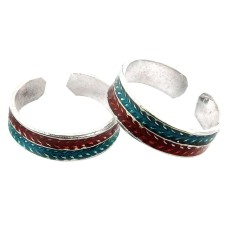 Colour Changing ! 925 Sterling Silver Toe Rings