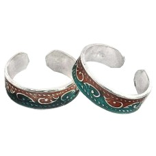 Stunning Natural Rich ! 925 Sterling Silver Toe Rings