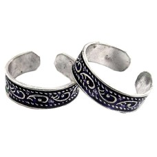 Natural Beauty ! 925 Sterling Silver Toe Rings