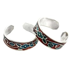 Royal ! 925 Sterling Silver Toe Rings