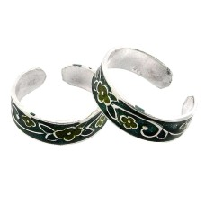 Tropical Glow ! 925 Sterling Silver Toe Rings