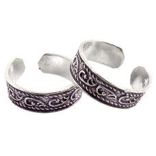 Abstract!! 925 Sterling Silver Toe Rings