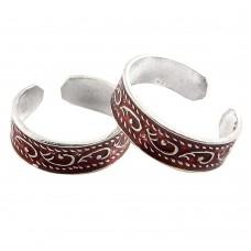 Two Tones Royal Dark ! 925 Sterling Silver Toe Rings