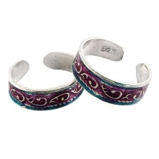 Lilac Kiss ! 925 Sterling Silver Toe Rings