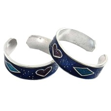 Big Relief Stone! 925 Sterling Silver Toe Rings