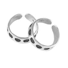 Pretty !! 925 Sterling Silver Enamel Toe Rings