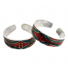 Caribbean Sea! 925 Sterling Silver Toe Rings