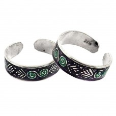 Circle Of Hope! 925 Sterling Silver Toe Rings