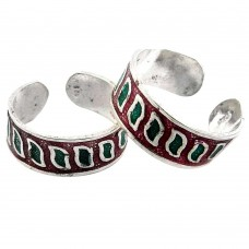 Classy Natural! 925 Sterling Silver Toe Rings