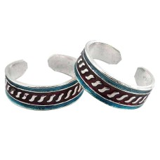 Colour Changing! 925 Sterling Silver Toe Rings