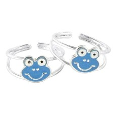 Spell !! 925 Sterling Silver Teddy Design Toe Rings