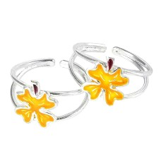 Franqipani Queen! 925 Sterling Silver Toe Rings