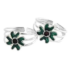 Royal Color! 925 Sterling Silver Toe Rings