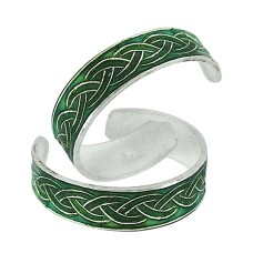 925 Silver Jewelry High Polish Inlay Handmade Toe Rings
