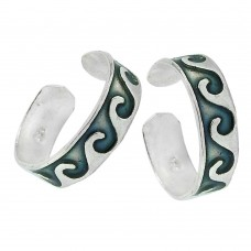 Indian Sterling Silver Jewelry Ethnic Inlay Handmade Toe Rings Wholesaling