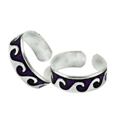 925 Sterling Silver Jewelry Charming Inlay Handmade Toe Rings Wholesale