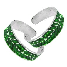 Sterling Silver Jewelry Ethnic Inlay Handmade Toe Rings Lieferant