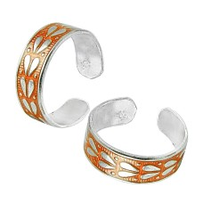 Indian Sterling Silver Jewelry Charming Inlay Handmade Toe Rings Hersteller