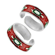 925 Sterling Silver Fashion Jewelry Charming Inlay Handmade Toe Rings