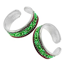 925 Sterling Silver Jewelry Fashion Inlay Handmade Toe Rings Mayorista