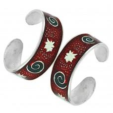 Sterling Silver Jewelry Beautiful Inlay Handmade Toe Rings Grossiste