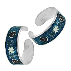 925 Sterling Silver Indian Jewelry Traditional Handmade Toe Rings Wholesale Price