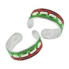 925 Sterling Silver Jewelry Fashion Inlay Handmade Toe Rings Al por mayor