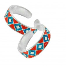 925 Sterling Silver Fashion Jewelry Charming Inlay Handmade Toe Rings De gros