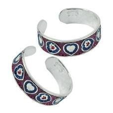 925 Sterling Silver Gemstone Jewelry Fashion Inlay Handmade Toe Rings Wholesale Price
