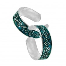 Indian Sterling Silver Jewelry Fashion Inlay Handmade Toe Rings Wholesaling