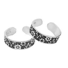 True Emotion !! 925 Sterling Silver Enamel Toe Rings