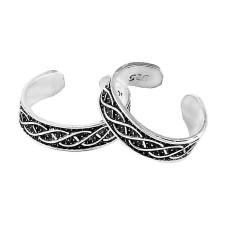 Big Awesome !! 925 Sterling Silver Enamel Toe Rings