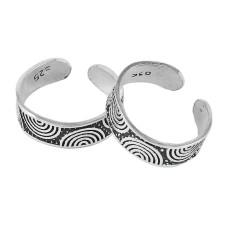 Captivating !! 925 Sterling Silver Enamel Toe Rings