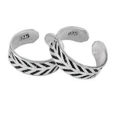 Circle of Hope !! 925 Sterling Silver Enamel Toe Rings